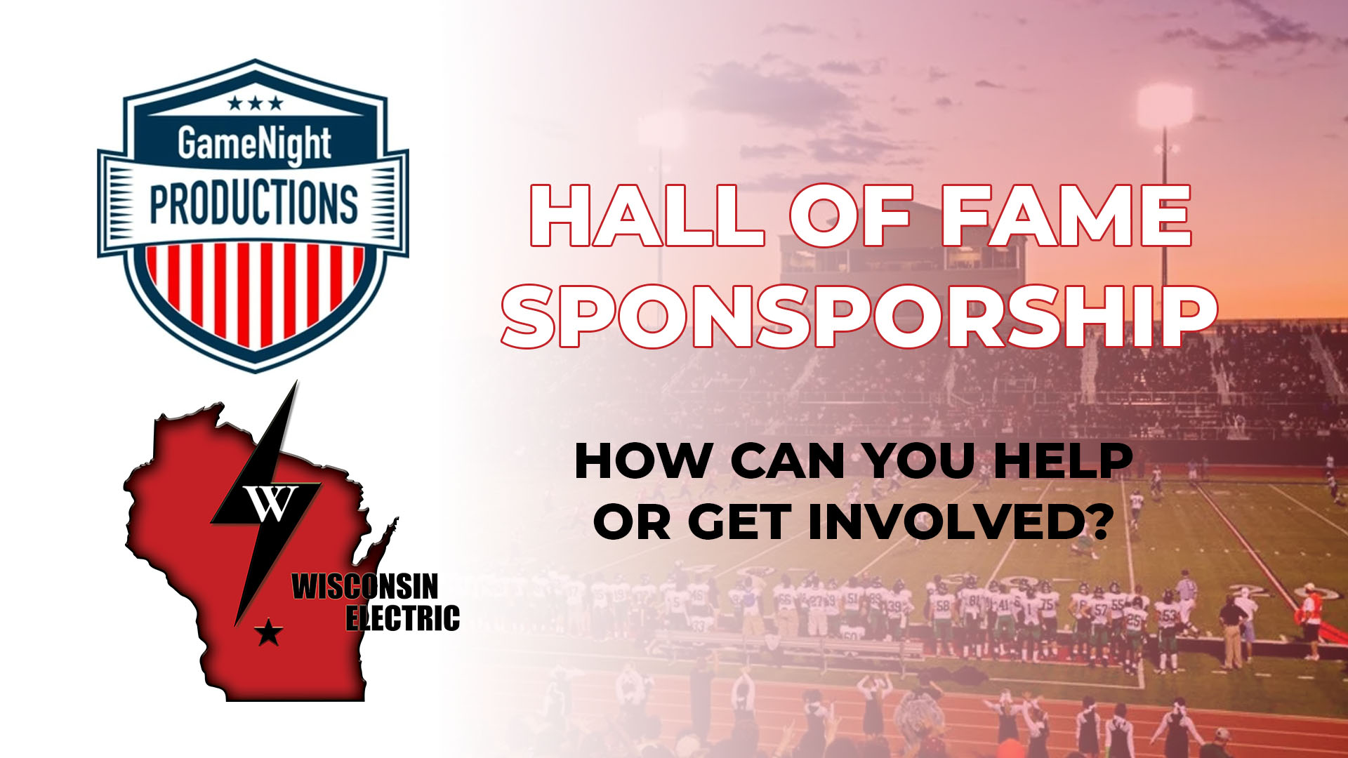 Hall of Fame Sponsorship - How Can You Get Involved
